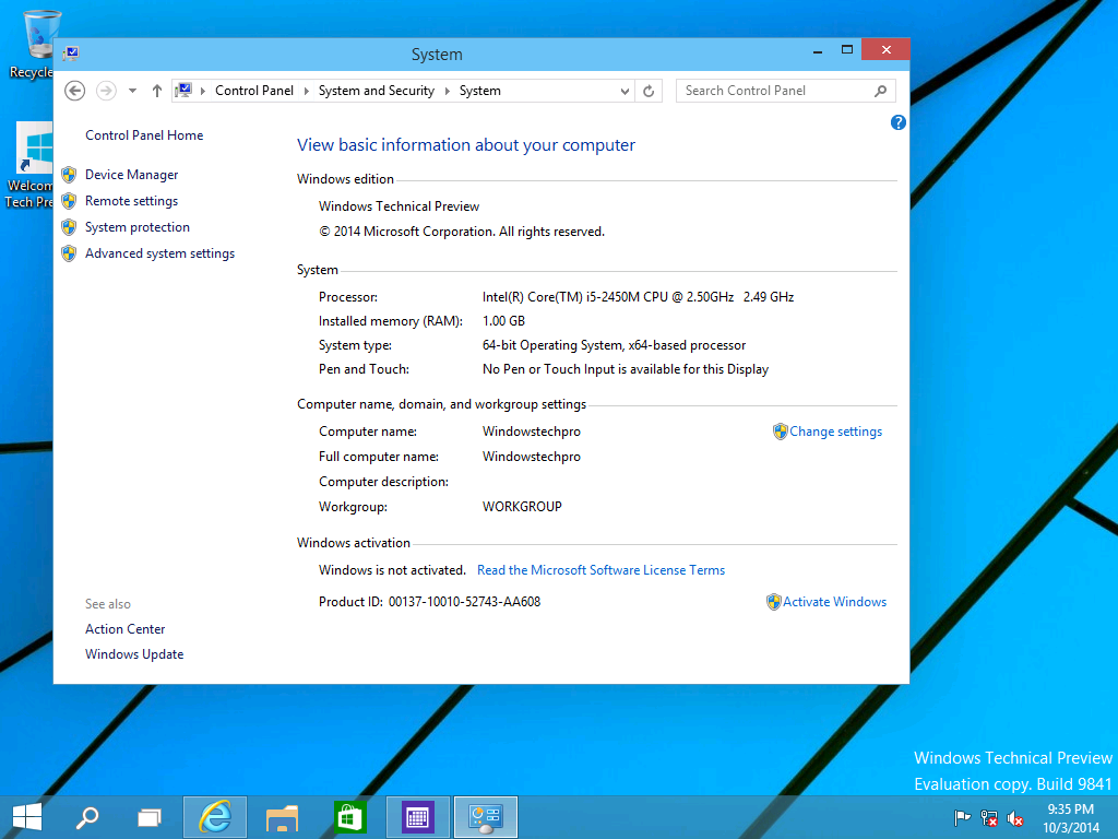 Windows 10 Technical Preview released.. – Windowstechpro.com