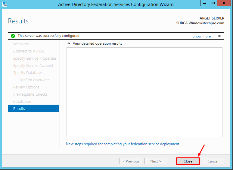ADFS3 0 Installation and Configuration with SQL Mirroring