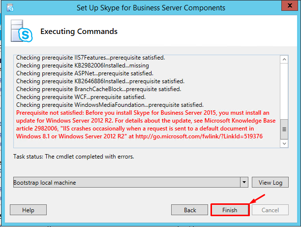 IIS Crashes Error While installation Skype for Business 2015