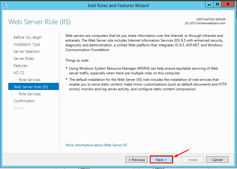 How to Install Certificate Services with SHA-256 in Server