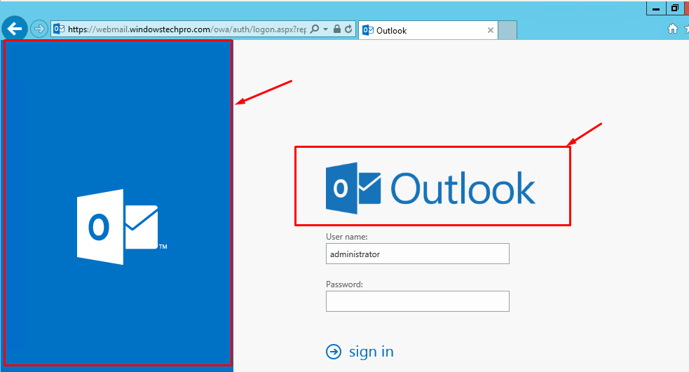 How to Customize OWA Login Page in Exchange 2016