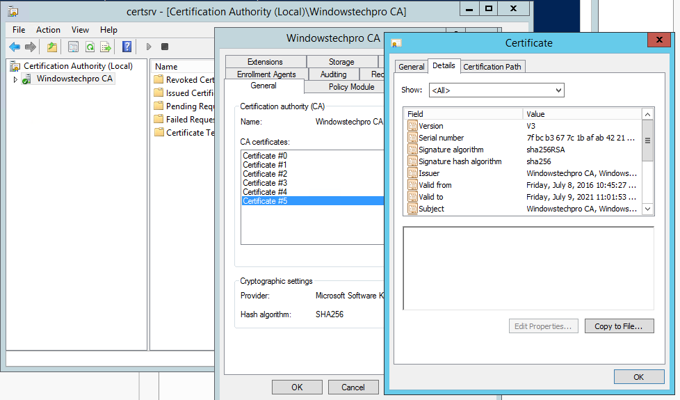 How To Migrate Pki 2 Tier Sha1 To Sha256 In Windows Server 2012 R2