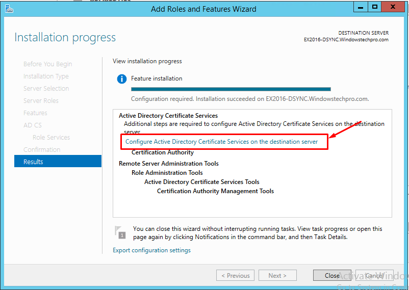 How to install Subordiante CA in Windows Server 2012 R2 | Windowstechpro