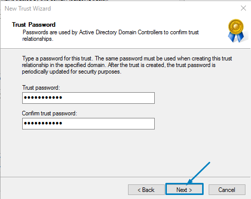 Active Directory trust Relationship between two domains in