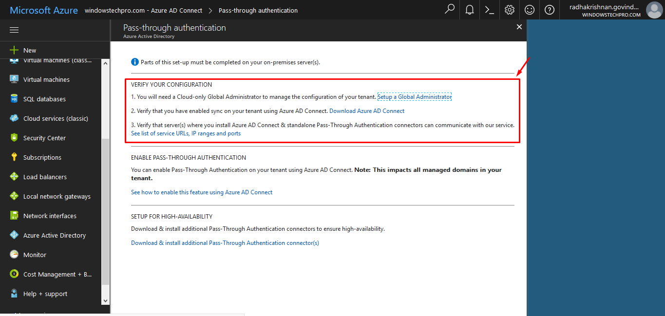 How to install azure active directory pass through authentication as per the note provided by microsoft the pta configuration will impact all managed domains in your tenant once validated click on download install 1betcityfo Image collections