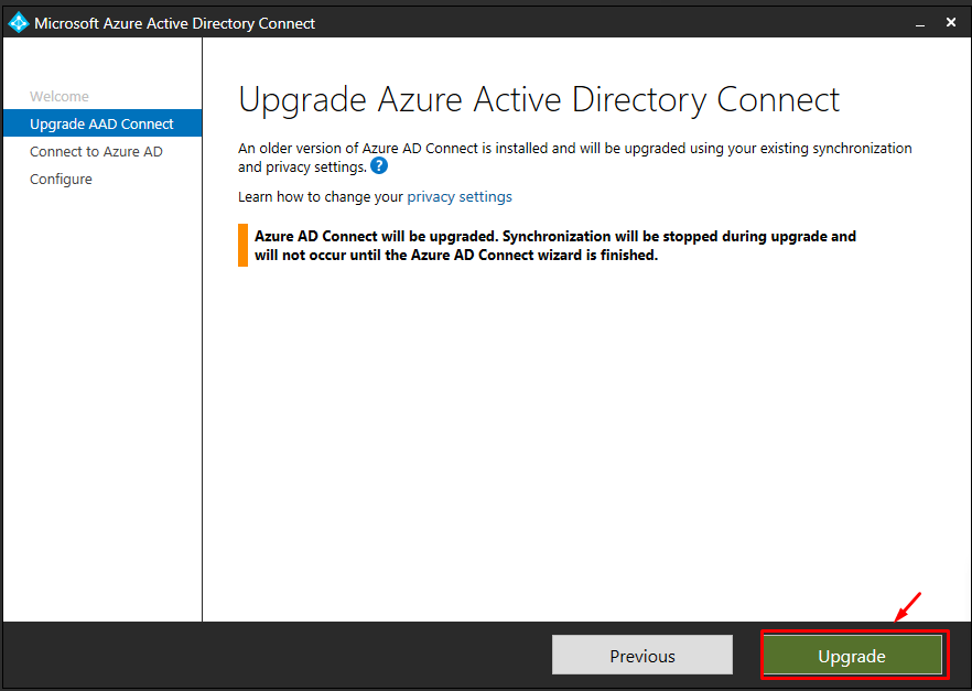 How to Upgrade AADConnect Agent from old version to New