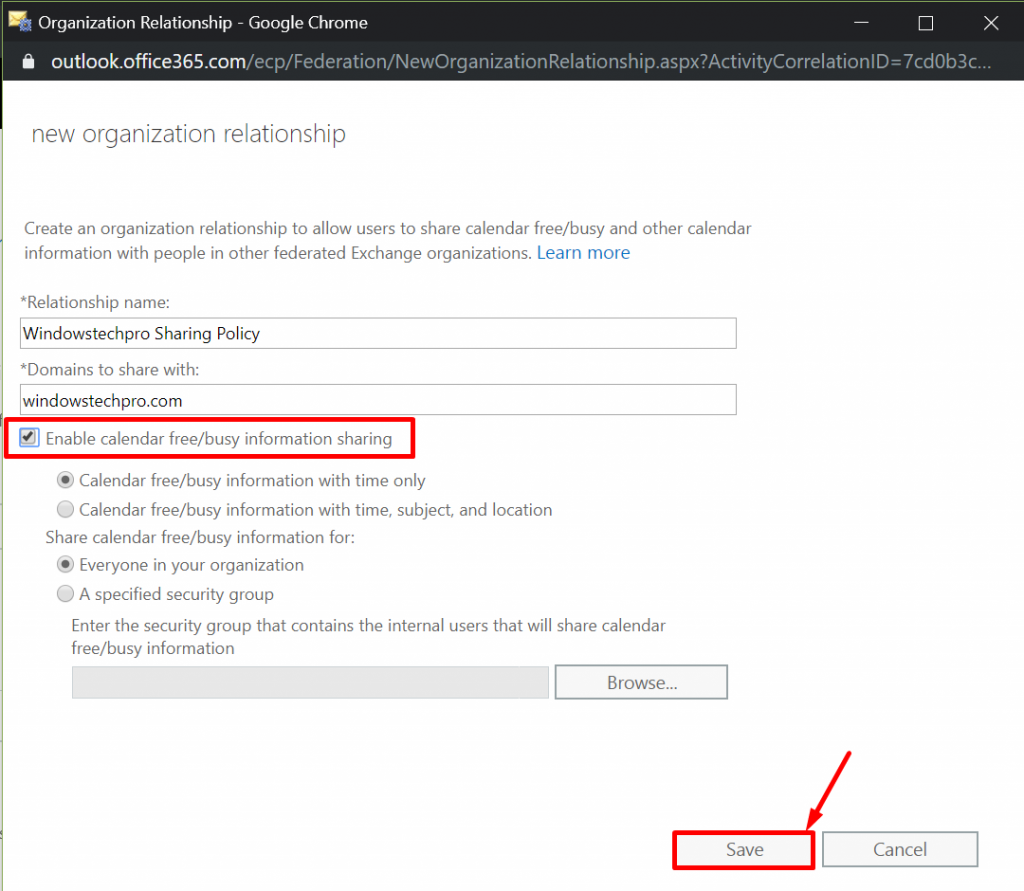 How Does Free/Busy Works between two different office 365